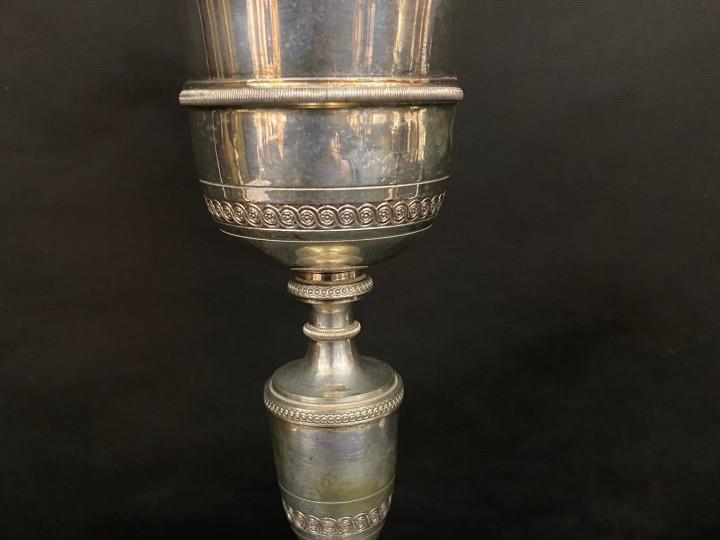 Calice in argento e metallo cesellato - Antichità Ioviero