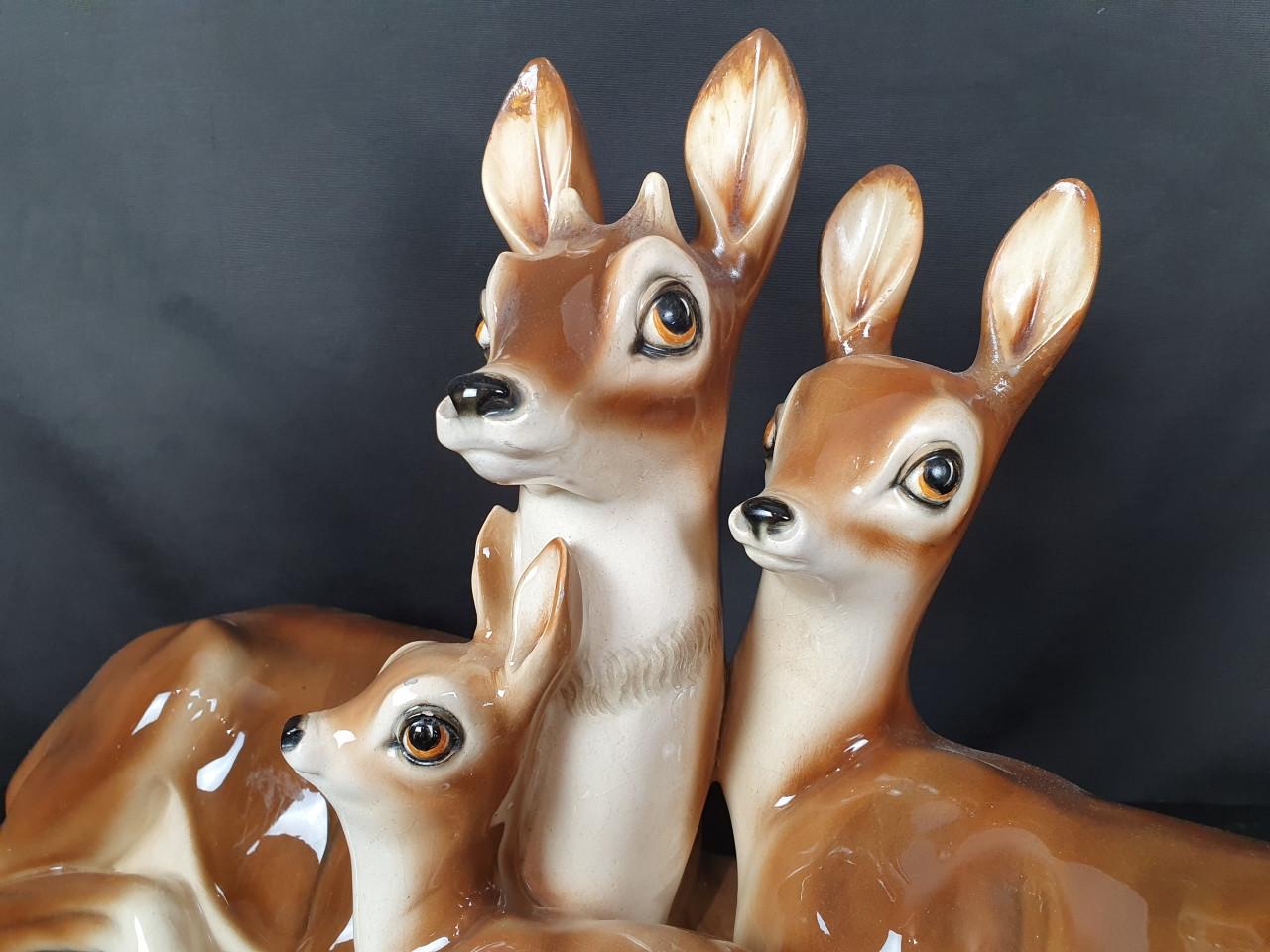 Famiglia di Cerbiatti firmata Gennai -Antichità Ioviero