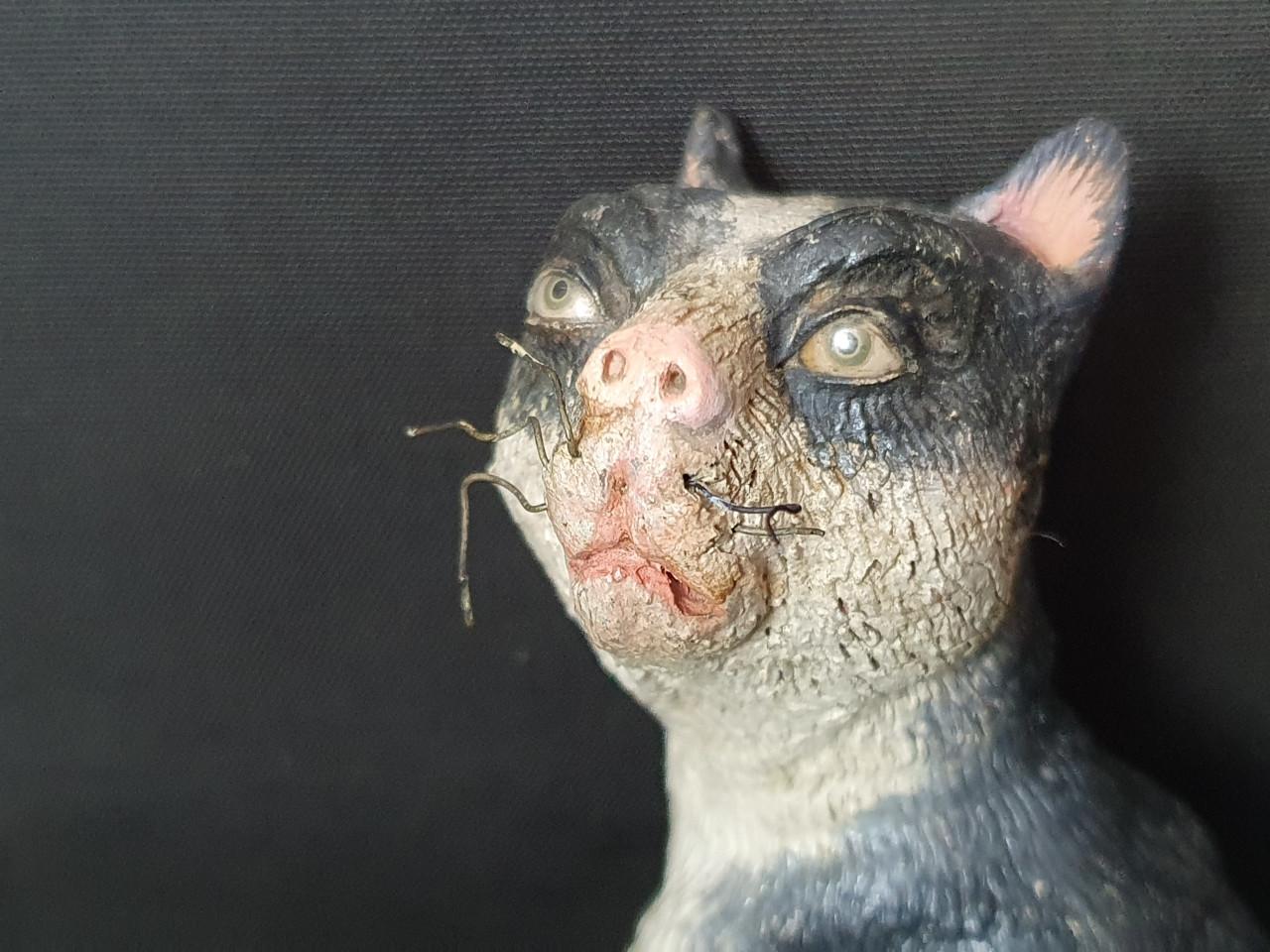 gatto-animale-da-presepe del 700 - Antichità Ioviero