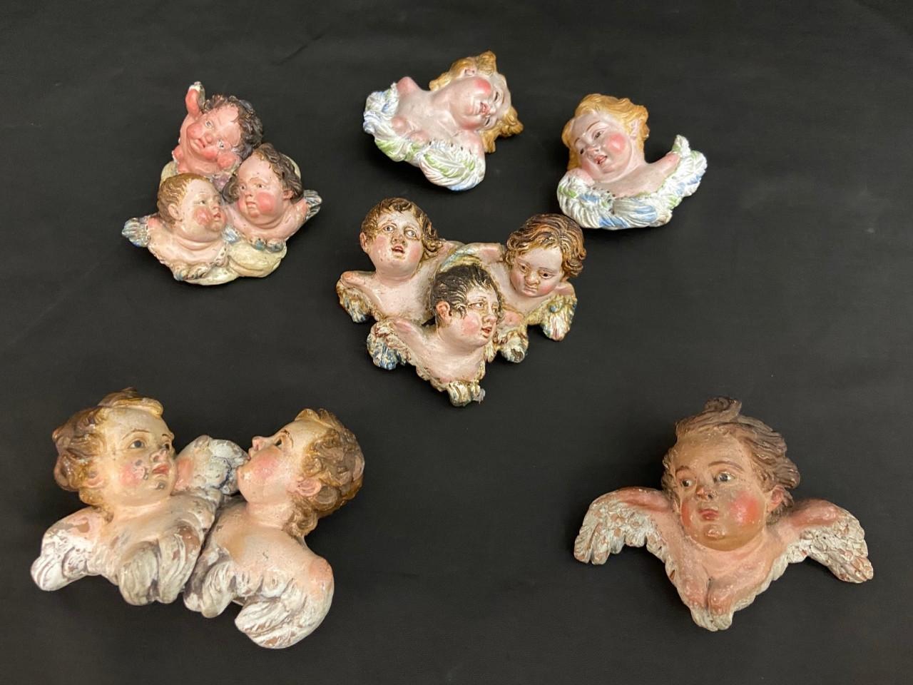 Cherubini in terracotta da presepe napoletano- Antichità Ioviero