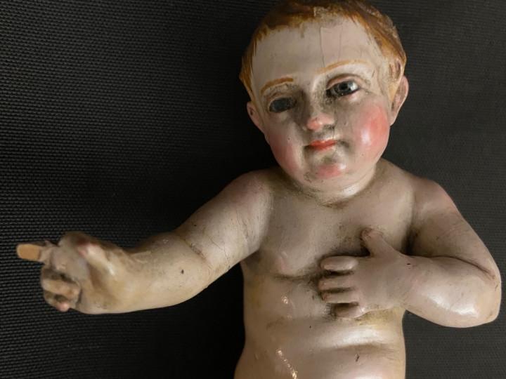 Scultura in legno di Bambino Gesù del 700 - Antichità Ioviero