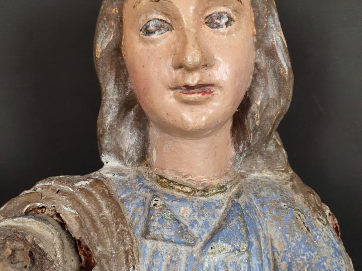 Scultura di Madonna lignea del XVII - Antichità Ioviero