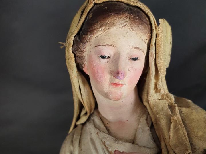 Scultura Madonna Immacolata fine 800 - Antichità Ioviero