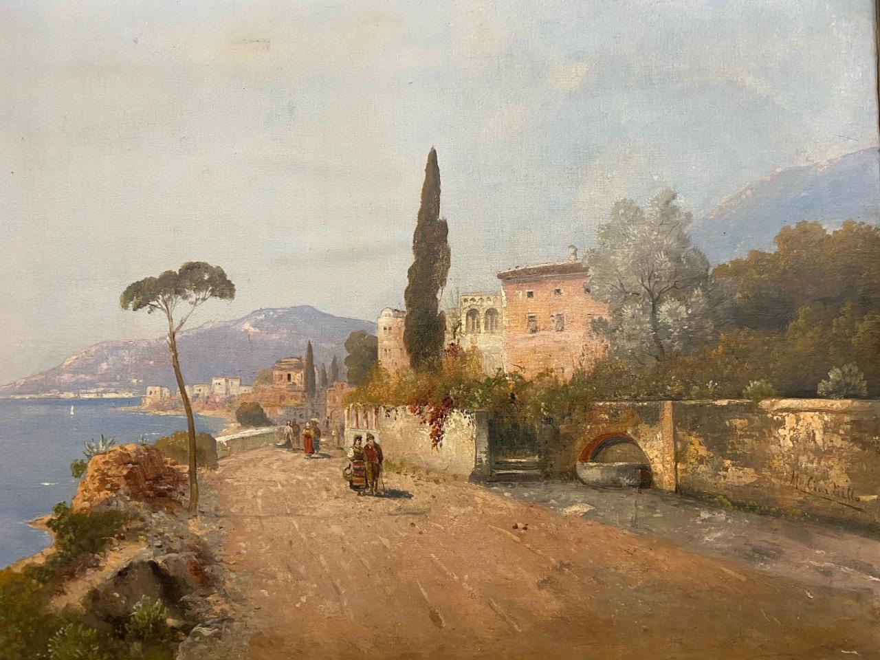 Dipinto della Costiera Amalfitana del 1800 - Antichità Ioviero