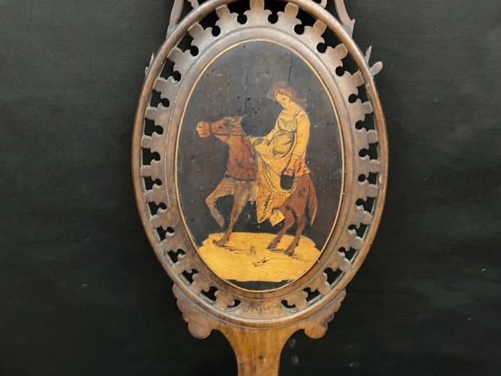 Specchio di intarsio Sorrentino del 1800 - Antichità Ioviero