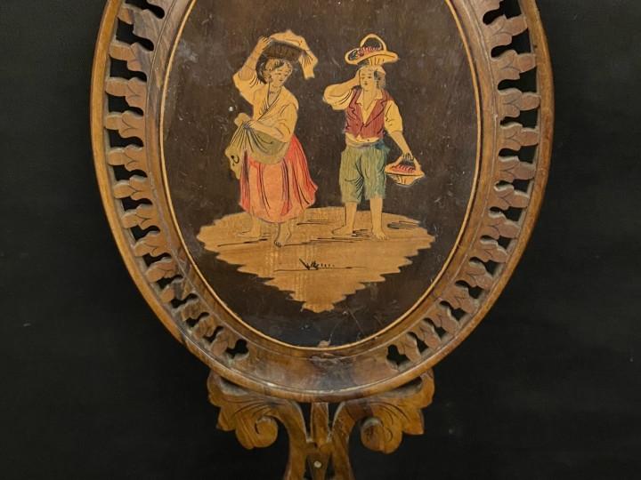 Specchio intarsiato sorrentino del 800 - Antichità Ioviero