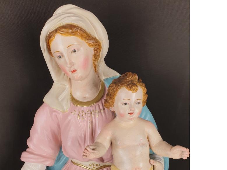 Madonna con Bambino in terracotta del 800 - Antichità Ioviero
