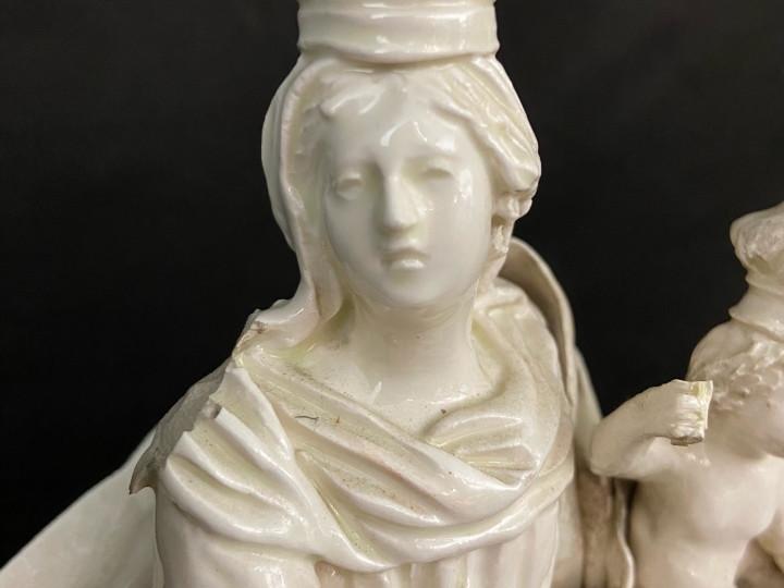 Scultura di Madonna Immacolata smaltata del 800 - Antichità Ioviero