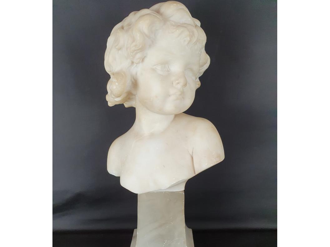 Busto di Bimba firmato Vittorio Caradossi - Antichità Ioviero