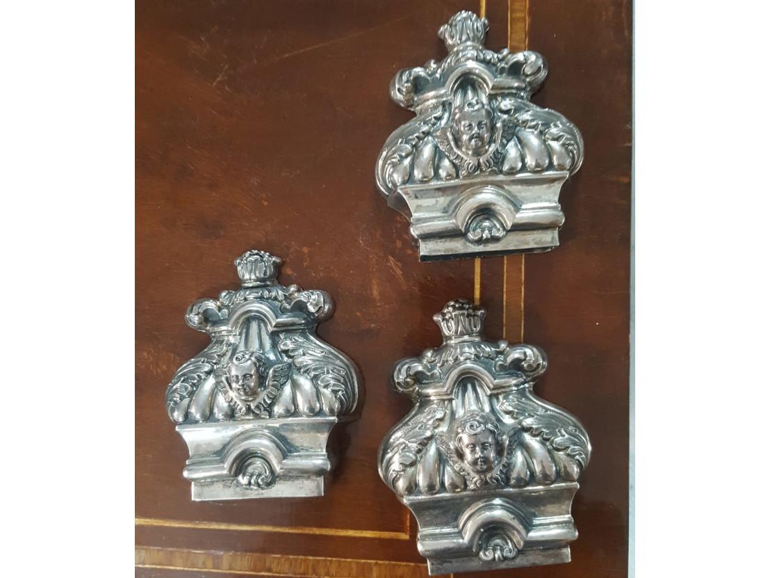 Tre puntali di croce in argento -Antichità Ioviero