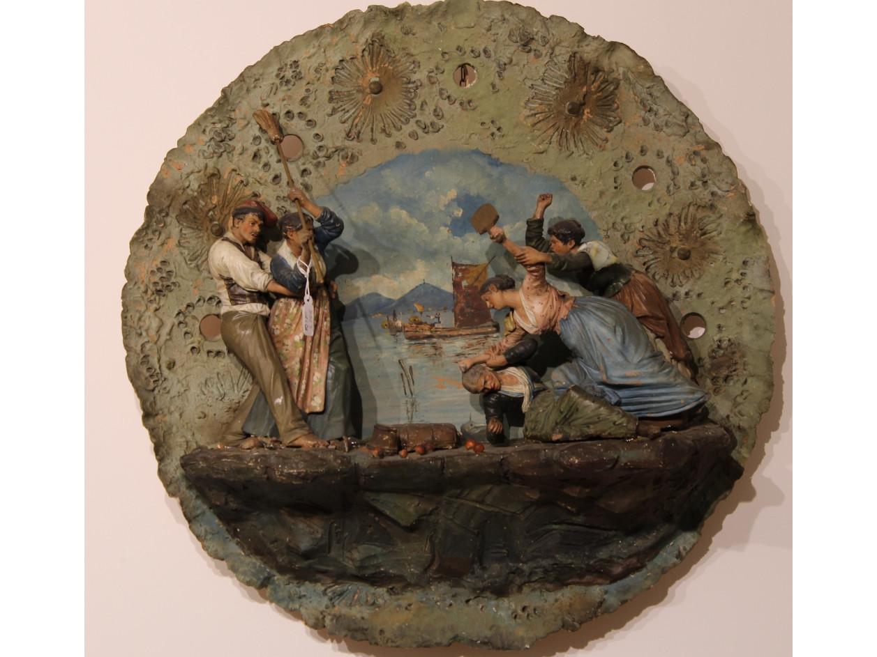Terracotta scena napoletana -Antichità Ioviero