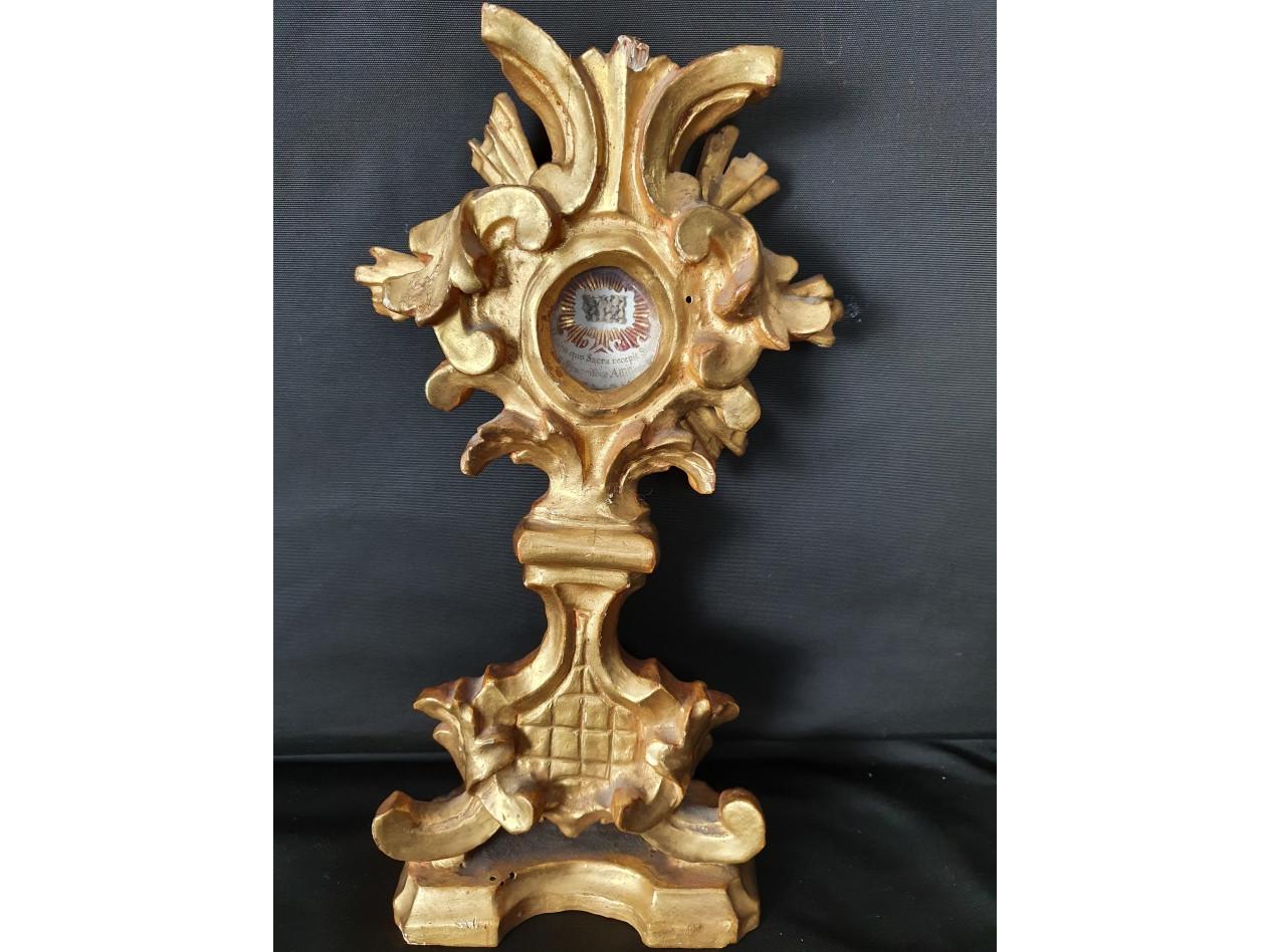 reliquiario in legno dorato del XIX secolo - Antichità Ioviero