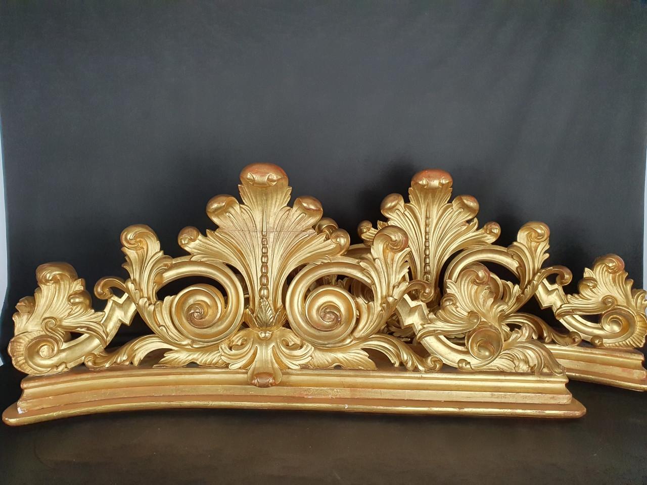 mensole-in-legno-dorato-del-xix-secolo - Antichità Ioviero