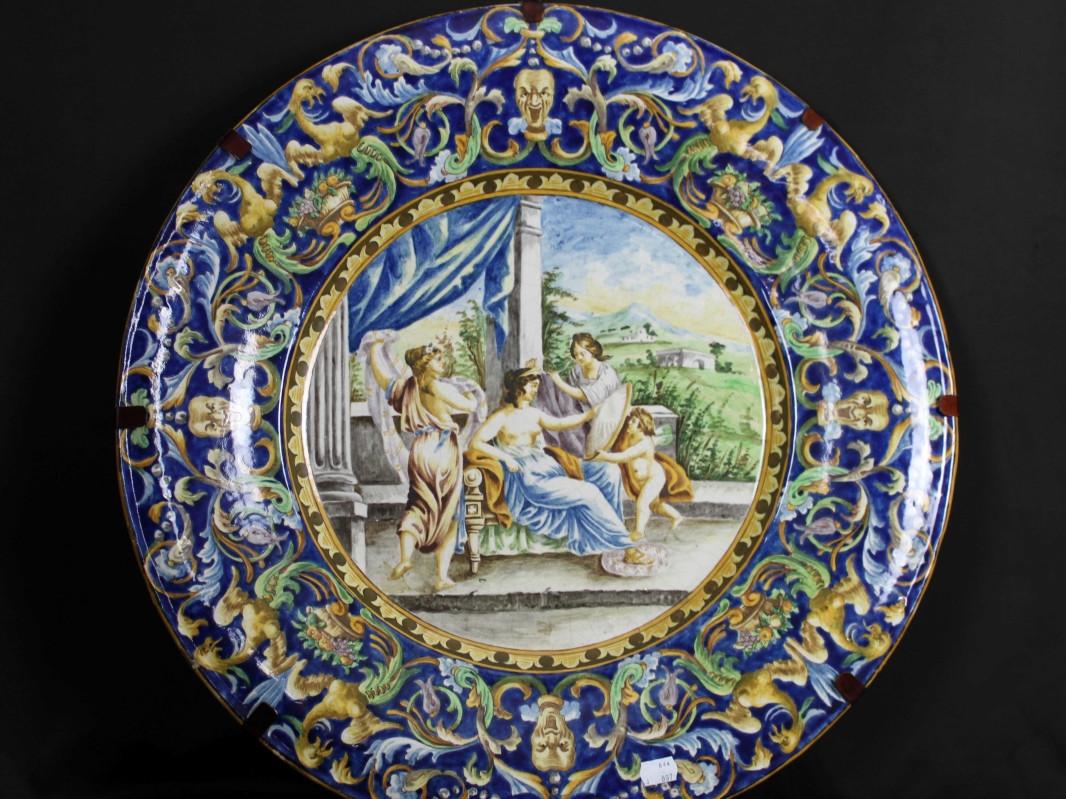 Piatto in maiolica -Antichità Ioviero