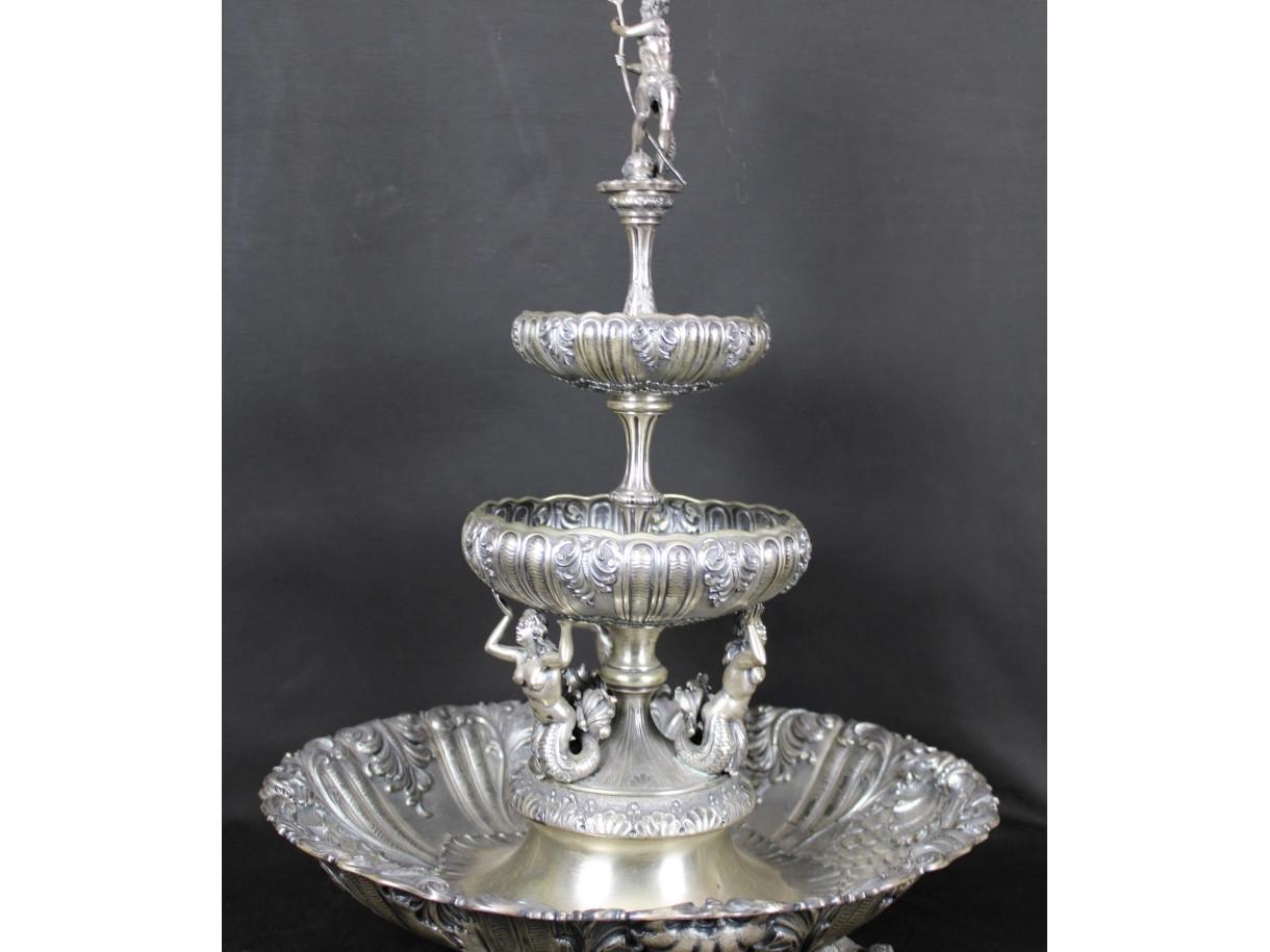 Alzata in argento -Antichità Ioviero