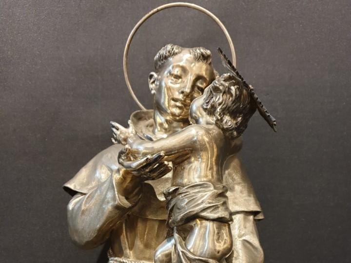 Sant' Antonio in argento dell'ottocento - Antichità Ioviero