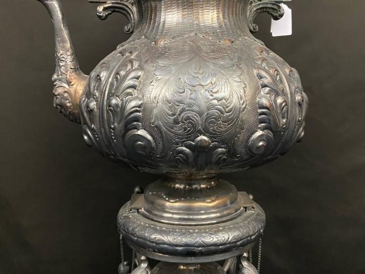 Samovar in argento sbalzato - Antichità Ioviero