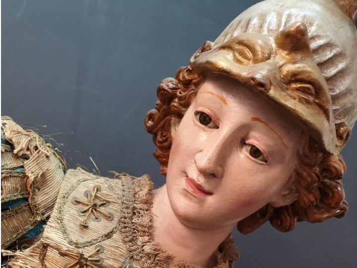 Scultura raffigurante San Michele Arcangelo - Antichità Ioviero