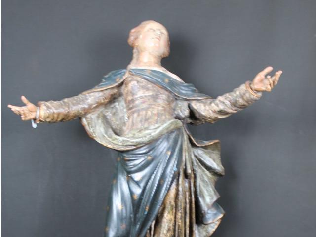 Scultura in legno di Madonna Assunta del 600 - Antichità Ioviero