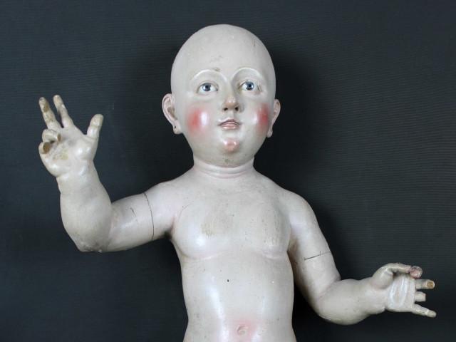 Scultura in legno di bambino-del-700 - Antichità Ioviero