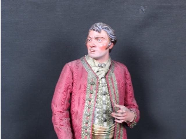 uomo-nobile da presepe napoletano del 700 - Antichità Ioviero