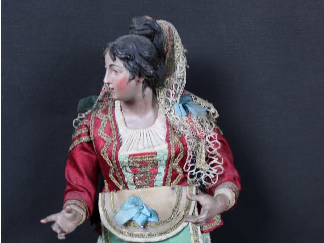 giovane-donna da presepe napoletano del 700-Antichità Ioviero