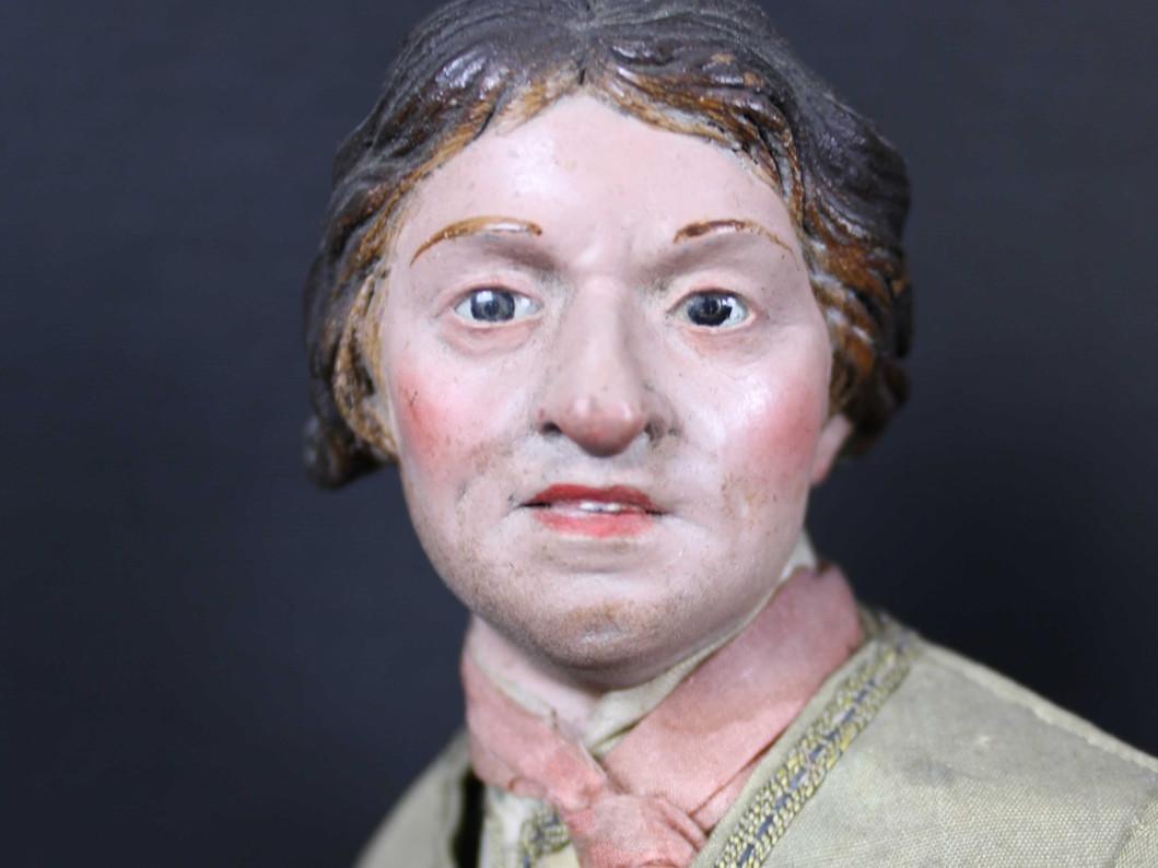 giovane-uomo-mezzo-carattere-da-presepe del 700 - Antichità Ioviero