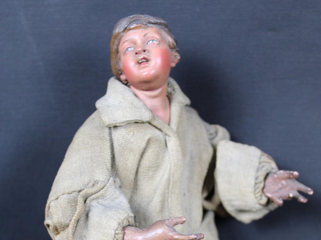 figura-da-presepe-bimbo-rustico del 700 - Antichità Ioviero