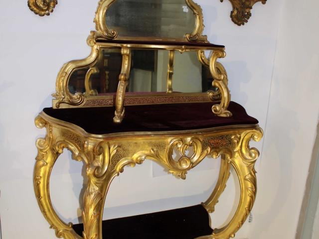 Consolle dorata Genova 1860- Antichità Ioviero
