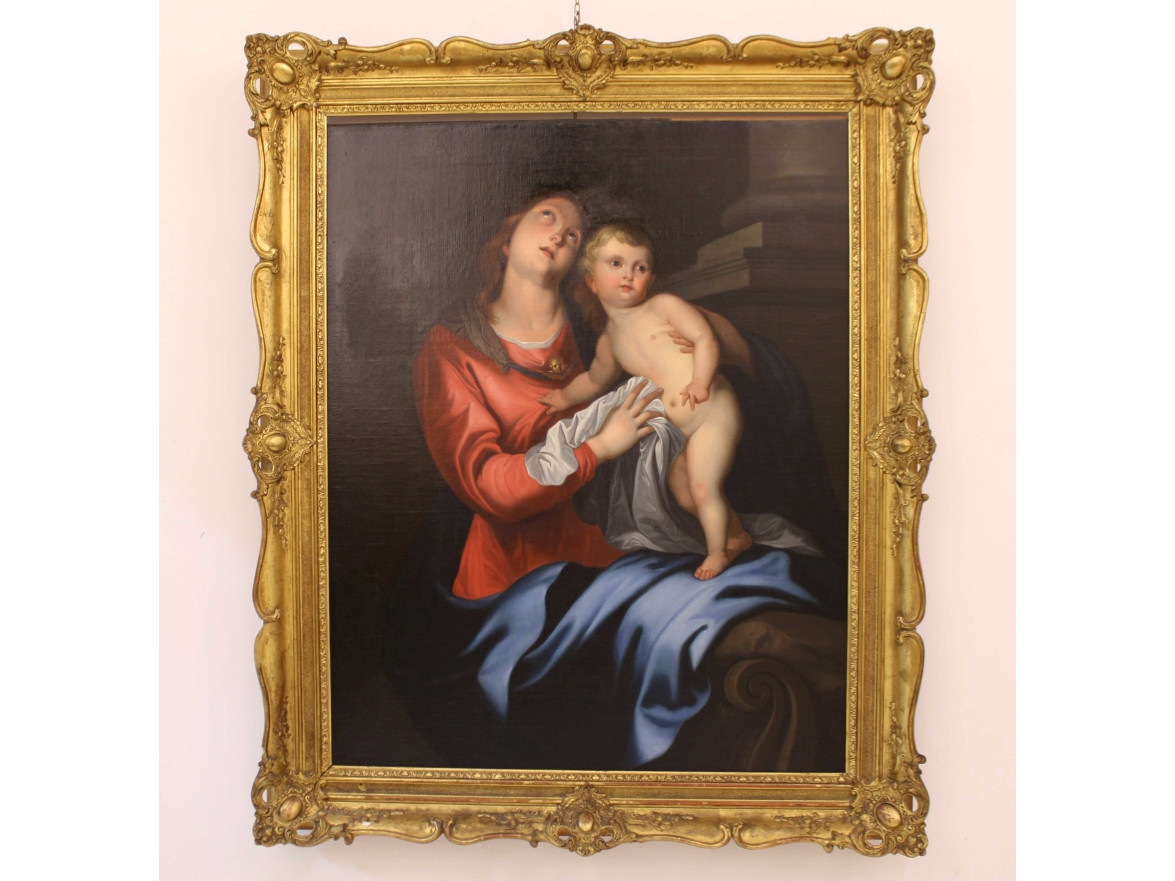 Dipinto Madonna con Bambino - Antichità Ioviero