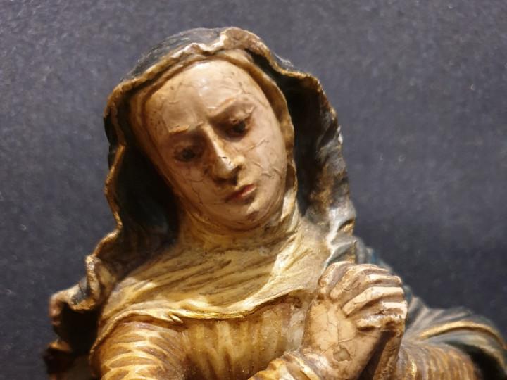 Madonna Immacolata in alabastro - Antichità Ioviero